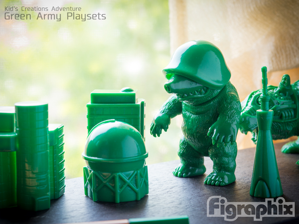 Kid's Creations Adventure Green Army Playsets