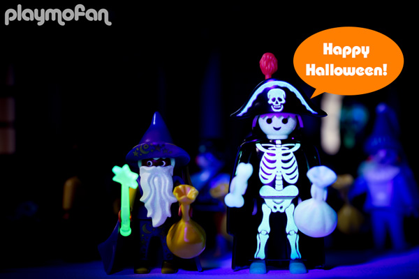 playmobil 3025 Skeleton & Wizard Trick-Or-Treaters