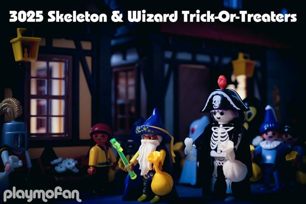 playmobil 3025 Skeleton & Wizard Trick-Or-Treaters