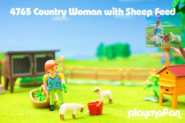 プレイモービル 4765 Country Woman with Sheep Feed